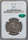 Seated Half Dollars: , 1861 50C XF45 NGC. CAC. NGC Census: (20/349). PCGS Population (52/366). Mintage: 2,888,400. Numismedia Wsl. Price for probl...