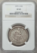 Seated Half Dollars: , 1870-S 50C XF45 NGC. NGC Census: (6/16). PCGS Population (5/33).Mintage: 1,004,000. Numismedia Wsl. Price for problem free...