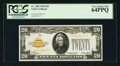 Fr. 2402 $20 1928 Gold Certificate. PCGS Very Choice New 64PPQ