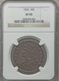 Bust Half Dollars: , 1826 50C XF45 NGC. NGC Census: (147/1155). PCGS Population(231/1174). Mintage: 4,000,000. Numismedia Wsl. Price for proble...