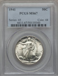 Walking Liberty Half Dollars: , 1941 50C MS67 PCGS. PCGS Population (487/15). NGC Census: (533/18).Mintage: 24,207,412. Numismedia Wsl. Price for problem ...