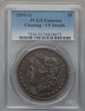 Morgan Dollars: , 1895-O $1 -- Cleaned -- PCGS Genuine. VF Details. NGC Census:(91/3691). PCGS Population (196/3942). Mintage: 450,000. Numi...