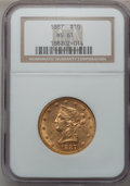 Liberty Eagles: , 1887 $10 MS61 NGC. NGC Census: (58/21). PCGS Population (22/34).Mintage: 53,680. Numismedia Wsl. Price for problem free NG...