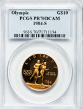 Modern Issues: , 1984-S G$10 Olympic Gold Ten Dollar PR70 Deep Cameo PCGS. PCGSPopulation (118). NGC Census: (371). Mintage: 48,551. Numism...