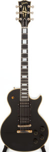 Musical Instruments:Electric Guitars, Steve Marriott's 1957 Gibson Les Paul Custom Black Solid Body Electric Guitar, Serial # 7-8756....