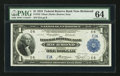 Large Size:Federal Reserve Bank Notes, Fr. 722 $1 1918 Federal Reserve Bank Note PMG Choice Uncirculated 64.. ...