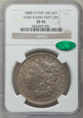 Morgan Dollars, 1888-O $1 Vam-4, Doubled Die Obverse Hot Lips XF45 NGC. CAC.Top-100. NGC Census: (0/0). PCGS Population (77/150)....