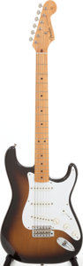Musical Instruments:Electric Guitars, 1982 Fender '57 Re-issue Buddy Holly Stratocaster Sunburst SolidBody electric Guitar, Serial # V000003....