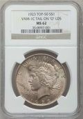 "Peace Dollars, 1923 $1 Tail On ""O"" LDS MS62 NGC. VAM-1C. Top-50. NGC Census:(8/8). PCGS Population (18/17)...."