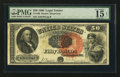 Large Size:Legal Tender Notes, Fr. 160 $50 1880 Legal Tender PMG Choice Fine 15 Net.. ...