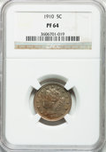 Proof Liberty Nickels: , 1910 5C PR64 NGC. NGC Census: (168/362). PCGS Population (195/256).Mintage: 2,405. Numismedia Wsl. Price for problem free ...