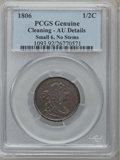 Half Cents: , 1806 1/2 C Small 6, No Stems -- Cleaned -- PCGS Genuine. AUDetails. NGC Census: (19/349). PCGS Population (57/186). Mintag...