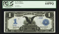 Large Size:Silver Certificates, Low Serial Number 58 Fr. 231 $1 1899 Silver Certificate PCGS Very Choice New 64PPQ.. ...