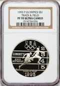 Modern Issues: , 1995-P $1 Olympic/Track & Field Silver Dollar PR70 Ultra CameoNGC. NGC Census: (41). PCGS Population (31). Numismedia Wsl...