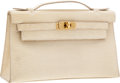 Luxury Accessories:Bags, Hermes Parchment Lizard Kelly Pochette Bag with Gold Hardware. ...