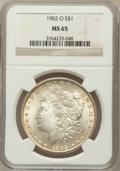 Morgan Dollars: , 1902-O $1 MS65 NGC. NGC Census: (6335/555). PCGS Population(4093/509). Mintage: 8,636,000. Numismedia Wsl. Price for probl...