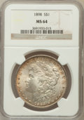 Morgan Dollars: , 1898 $1 MS64 NGC. NGC Census: (7929/3061). PCGS Population(5763/2755). Mintage: 5,884,735. Numismedia Wsl. Price for probl...