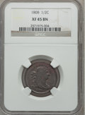 Half Cents: , 1808 1/2 C XF45 NGC. NGC Census: (8/32). PCGS Population (8/48).Mintage: 400,000. Numismedia Wsl. Price for problem free N...