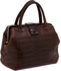 Luxury Accessories:Bags, Giorgio's of Palm Beach Brown Matte Alligator Frame Doctor Bag. ...