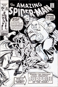 John Romita Sr. The Amazing Spider-Man #85 Kingpin and the Schemer Cover Original Art (Marvel, 1970)