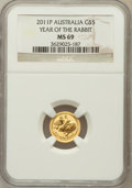 Australia, 2011-P G$5 Year of the Rabbit MS69 NGC. NGC Census: (0/0). PCGSPopulation (20/19)....