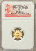 Australia, 2012-P G$5 Year of the Dragon MS70 NGC. NGC Census: (0). PCGSPopulation (0)....