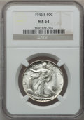 "Walking Liberty Half Dollars, (2)1946-S 50C MS64 NGC. The current Coin Dealer Newsletter(Greysheet) wholesale ""bid"" price is $65.00.... (Total: 2 coins)"