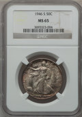 Walking Liberty Half Dollars: , 1946-S 50C MS65 NGC. NGC Census: (4107/1362). PCGS Population(5931/1670). Mintage: 3,724,000. Numismedia Wsl. Price for pr...