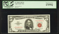 Small Size:Legal Tender Notes, Fr. 1536* $5 1963 Legal Tender Note. PCGS Superb Gem New 67PPQ.. ...