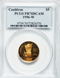 Modern Issues: , 1996-W G$5 Olympic/Cauldron Gold Five Dollar PR70 Deep Cameo PCGS.PCGS Population (116). NGC Census: (618). Numismedia Ws...