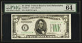 Fr. 1960-C* $5 1934D Federal Reserve Note. PMG Choice Uncirculated 64 EPQ