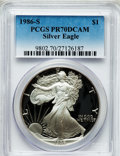Modern Bullion Coins: , 1986-S $1 Silver Eagle PR70 Deep Cameo PCGS. PCGS Population (668).NGC Census: (1133). Mintage: 1,446,778. Numismedia Wsl....