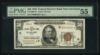 Fr. 1880-D* $50 1929 Federal Reserve Bank Note. PMG About Uncirculated 55