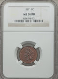 Indian Cents: , 1887 1C MS64 Red and Brown NGC. NGC Census: (122/60). PCGSPopulation (187/30). Mintage: 45,226,484. Numismedia Wsl. Price ...