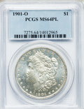 Morgan Dollars: , 1901-O $1 MS64 Prooflike PCGS. PCGS Population (282/159). NGCCensus: (385/169). Numismedia Wsl. Price for problem free NG...