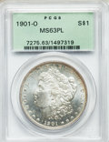 Morgan Dollars: , 1901-O $1 MS63 Prooflike PCGS. PCGS Population (180/441). NGCCensus: (159/554). Numismedia Wsl. Price for problem free NG...
