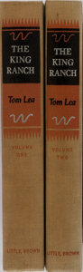 Books:Americana & American History, Tom Lea. INSCRIBED. The King Ranch. Vol. I & II. Little,Brown, 1957. First edition, first printing. Signed an... (Total: 2Items)