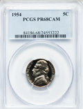 Proof Jefferson Nickels: , 1954 5C PR68 Cameo PCGS. PCGS Population (76/4). NGC Census:(99/50). Numismedia Wsl. Price for problem free NGC/PCGS coin...