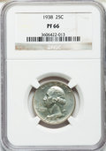 Proof Washington Quarters: , 1938 25C PR66 NGC. NGC Census: (367/101). PCGS Population (386/78).Mintage: 8,045. Numismedia Wsl. Price for problem free ...