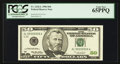 Small Size:Federal Reserve Notes, Fr. 2126-L $50 1996 Federal Reserve Note. Solid Serial Number AL55555555A. PCGS Gem New 65PPQ.. ...