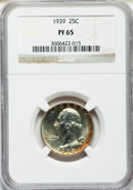 Proof Washington Quarters: , 1939 25C PR65 NGC. NGC Census: (340/579). PCGS Population(619/667). Mintage: 8,795. Numismedia Wsl. Price for problemfree...