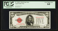 Fr. 1525* $5 1928 Legal Tender Note. PCGS Very Choice New 64