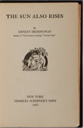 "Books:Literature 1900-up, Ernest Hemingway. The Sun Also Rises. Scribners, 1926. Firstedition, first printing with ""stoppped"" on page 181. Cu..."