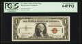 Small Size:World War II Emergency Notes, Fr. 2300* $1 1935A Hawaii Silver Certificate. PCGS Very Choice New64PPQ.. ...
