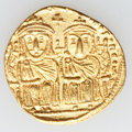 Ancients:Byzantine, Ancients: Leo IV, the Khazar (AD 775-780). AV solidus (22mm, 4.45gm, 6h). ...