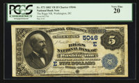 Washington, DC - $5 1882 Value Back Fr. 573 The Riggs NB Ch. # (E)5046