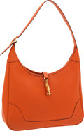 Luxury Accessories:Bags, Hermes 31cm Orange H Togo Leather Trim Bag with Gold Hardware. ...