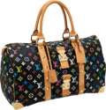 Luxury Accessories:Travel/Trunks, Louis Vuitton Black Monogram Multicolor Keepall 45 Weekender Bag....