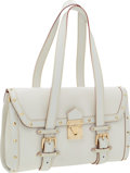 Luxury Accessories:Bags, Louis Vuitton White Suhali L'Epanoui GM Bag. ...