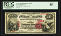 National Bank Notes:Pennsylvania, Greensburg, PA - $10 1875 Fr. 423 The First NB Ch. # 2558. ...
